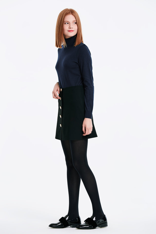 Dark blue polo neck with cotton photo 4 - MustHave online store