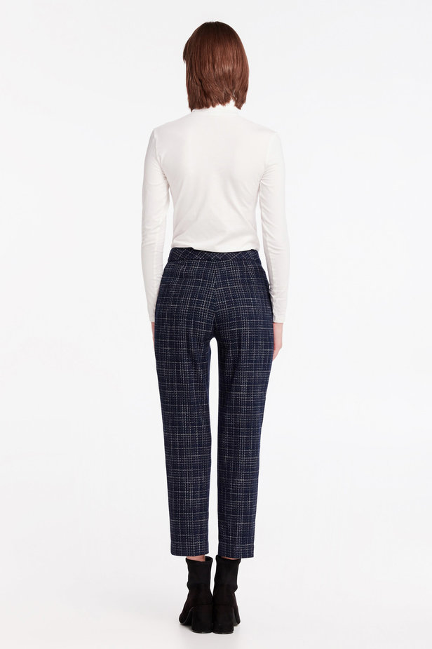 Dark-blue checkered pants photo 5 - MustHave online store