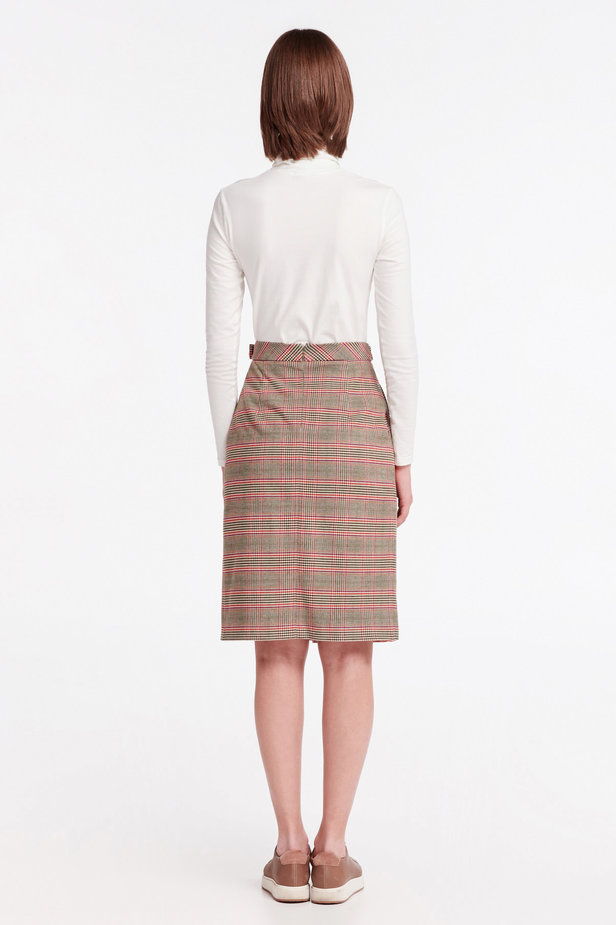 Checkered skirt with a pleat photo 3 - MustHave online store