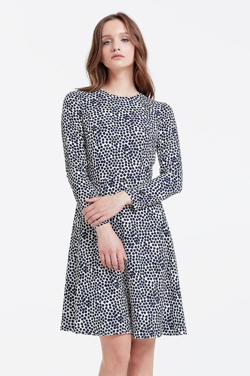 Milky dress with a blue polka dot print