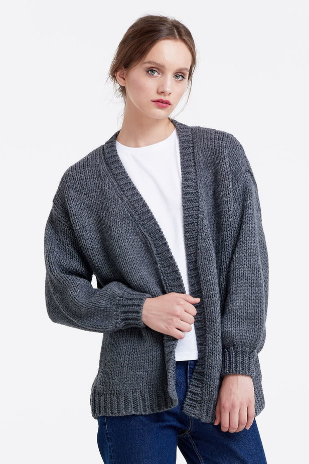 Swing grey cardigan photo 1 - MustHave online store