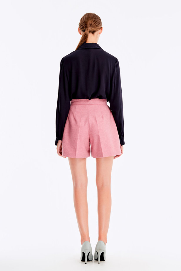 Pink shorts with herringbone print photo 6 - MustHave online store