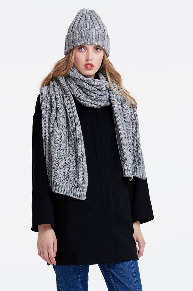 Grey scarf photo 4 - MustHave online store