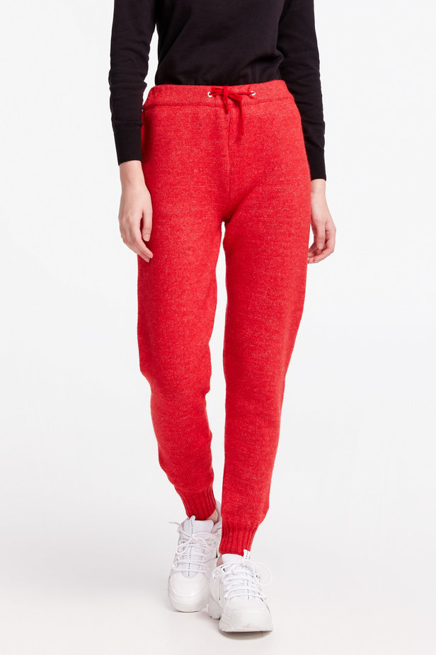 Red knit pants photo 3 - MustHave online store