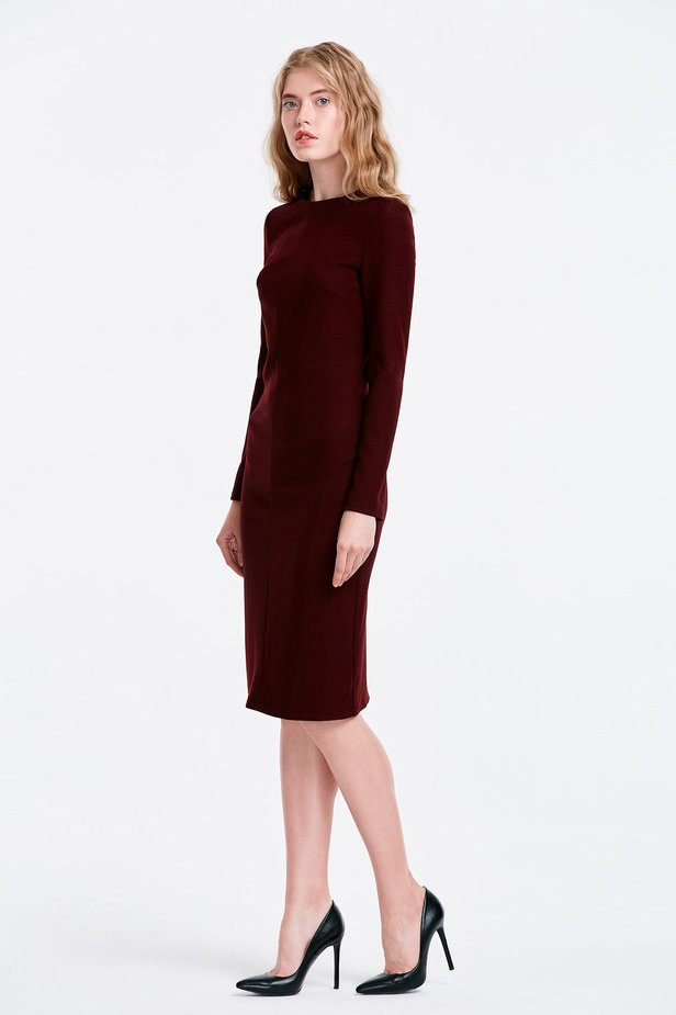 Column wine dress photo 3 - MustHave online store