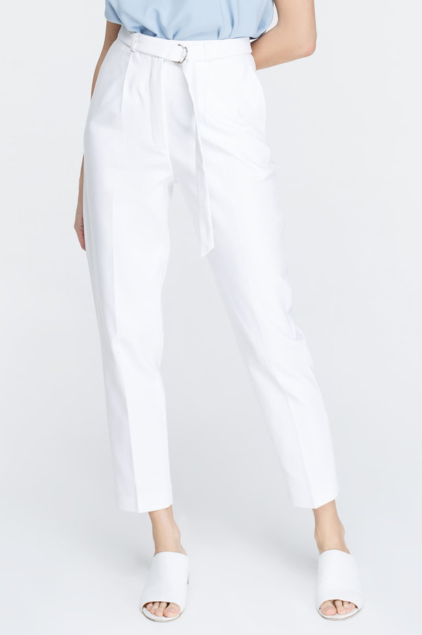 White pants with arrows and belt photo 3 - MustHave online store