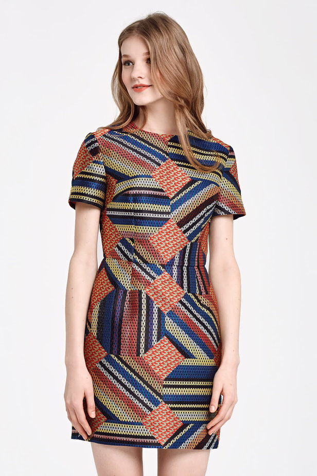 Mini colorful dress with lurex photo 1 - MustHave online store