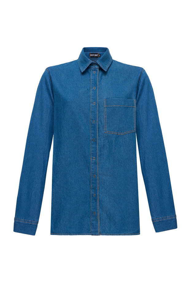 Light-blue denim shirt photo 7 - MustHave online store
