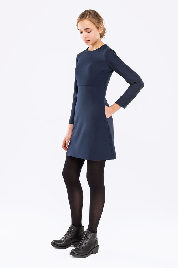 Blue A-line dress photo 3 - MustHave online store