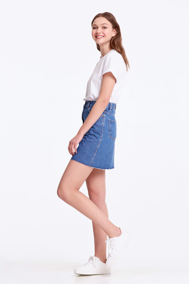 Mini denim skirt photo 3 - MustHave online store