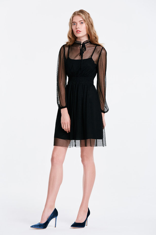 Black lace dress photo 4 - MustHave online store