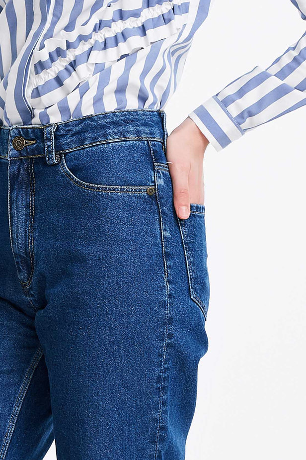 Short blue jeans photo 3 - MustHave online store