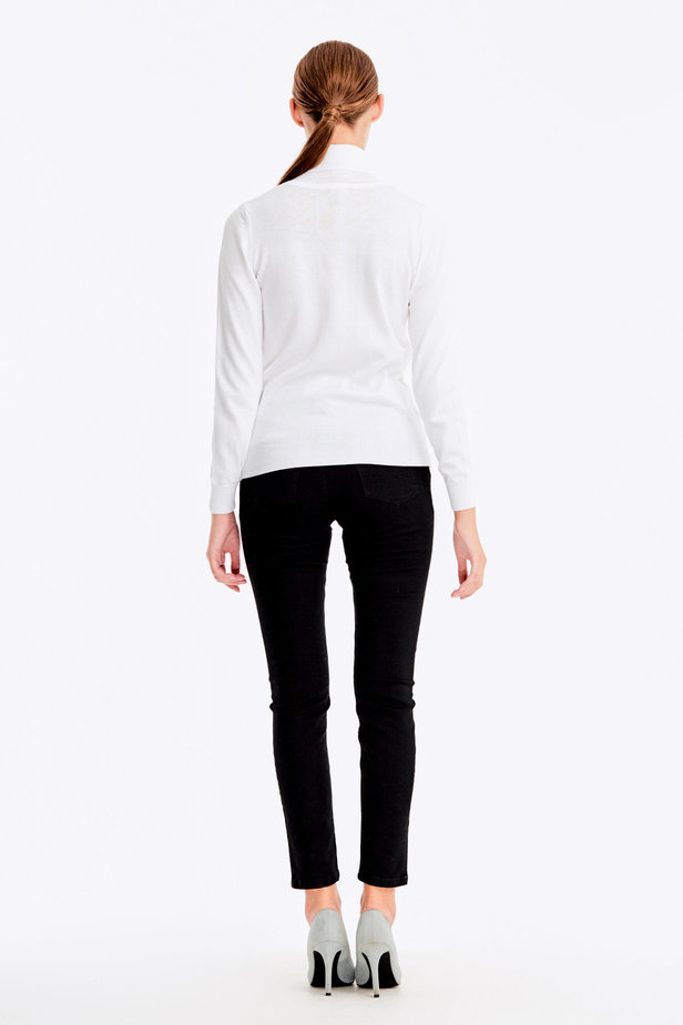 White polo neck with cotton photo 5 - MustHave online store