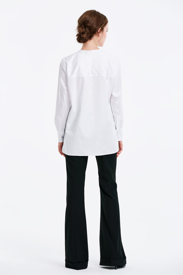 Asymmetrical white shirt photo 2 - MustHave online store