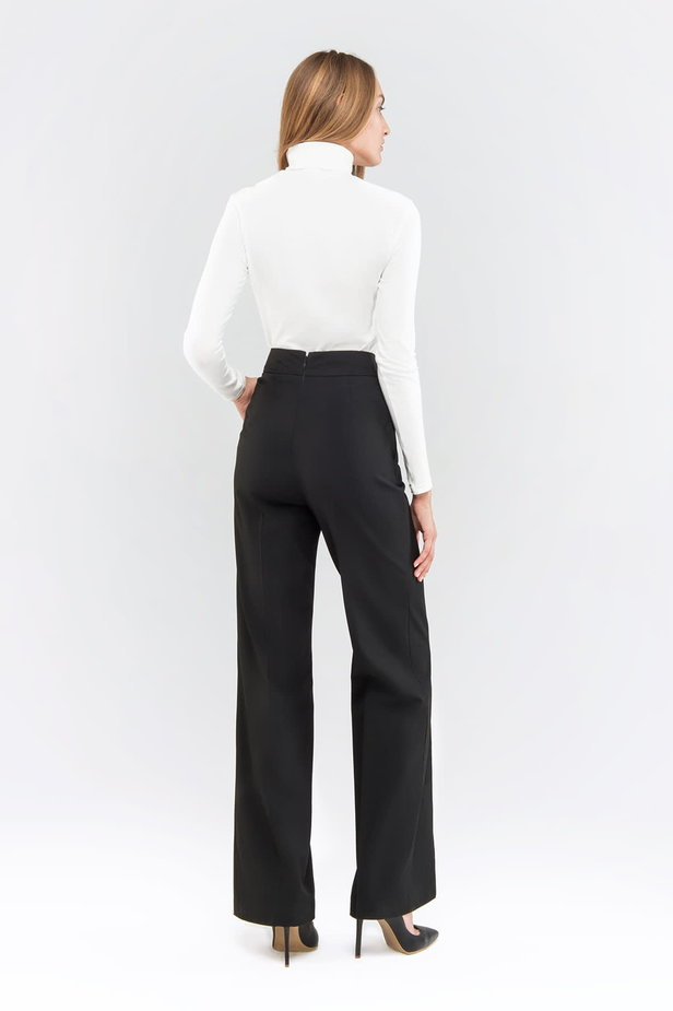 Black pants with a belt photo 5 - MustHave online store