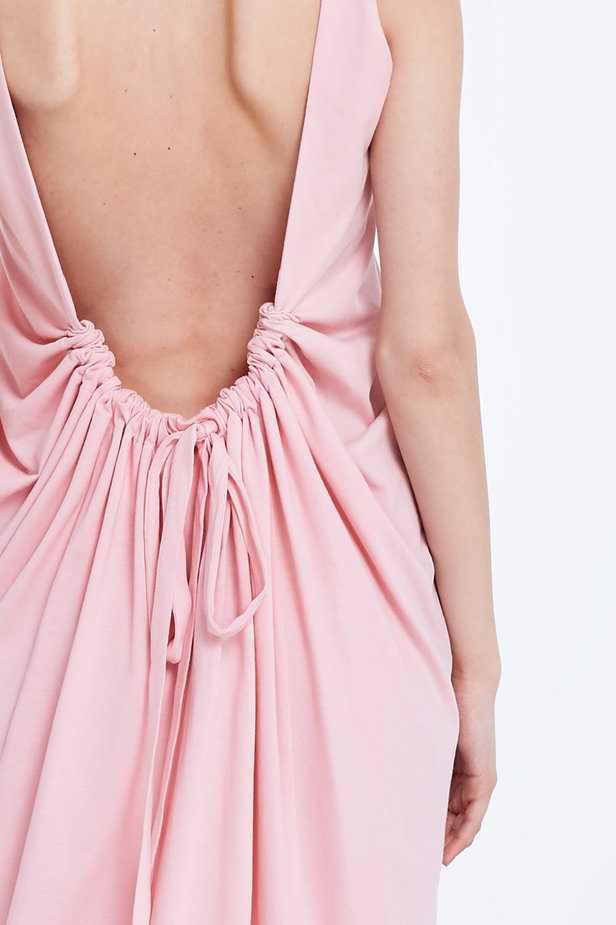 Backless pink dress photo 5 - MustHave online store