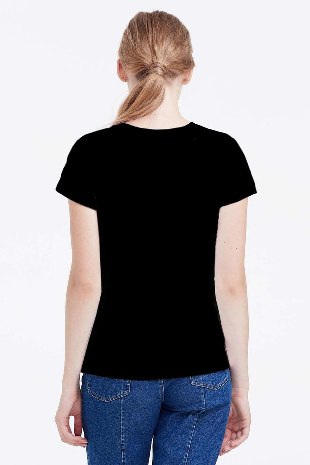 Black T-shirt photo 4 - MustHave online store