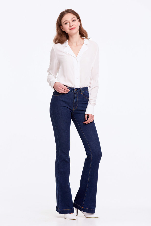 Flared blue jeans photo 6 - MustHave online store