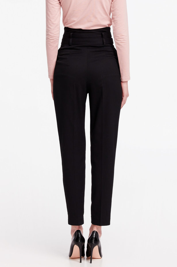 High-waisted black pants photo 5 - MustHave online store