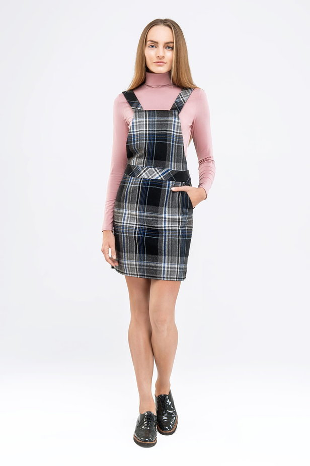 Mini checked sundress with straps photo 4 - MustHave online store