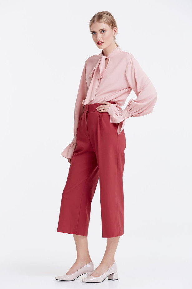 Wine red culottes photo 2 - MustHave online store