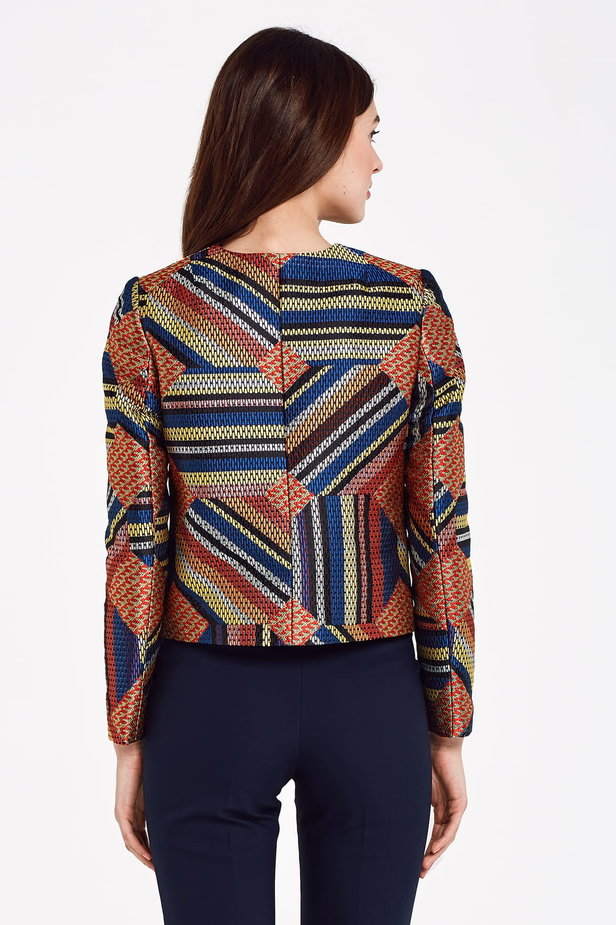 Short multicolored jacket with lurex photo 4 - MustHave online store