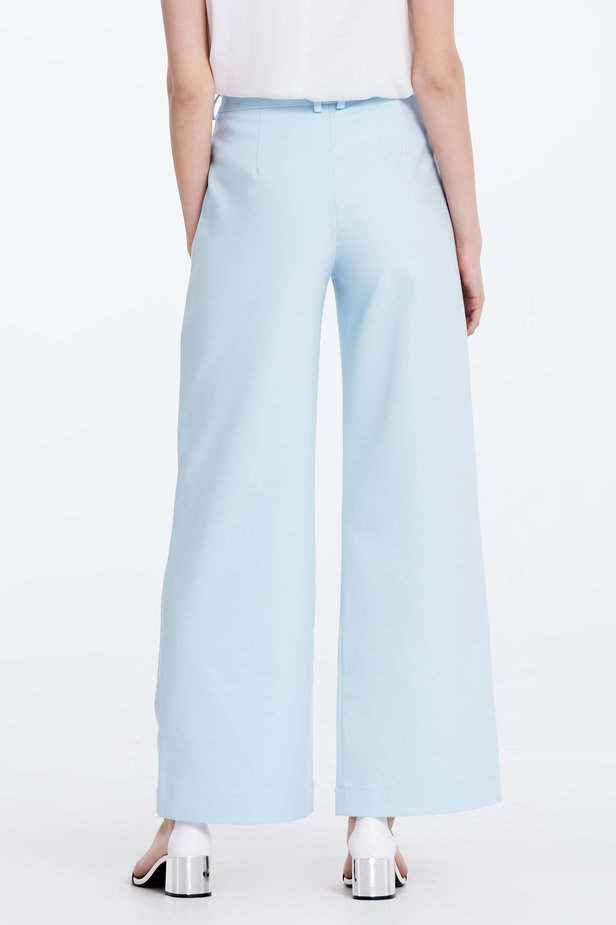 Wide leg blue trousers photo 5 - MustHave online store