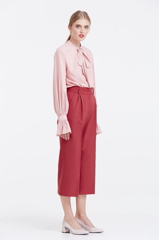 Wine red culottes photo 5 - MustHave online store