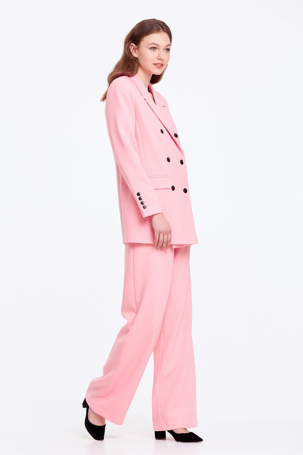 Double-breasted pink jacket with pockets photo 6 - MustHave online store