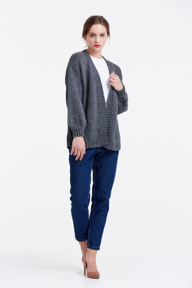 Swing grey cardigan photo 5 - MustHave online store