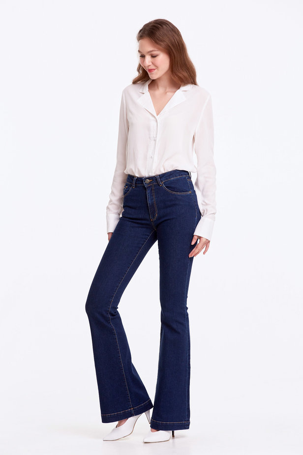 Flared blue jeans photo 3 - MustHave online store