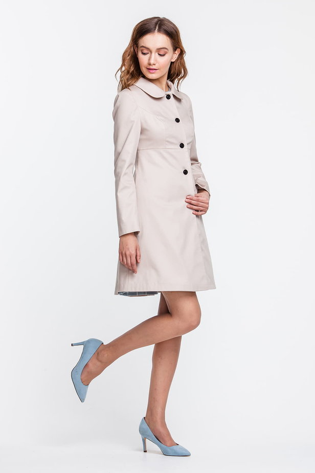 A-line beige trenchcoat photo 3 - MustHave online store