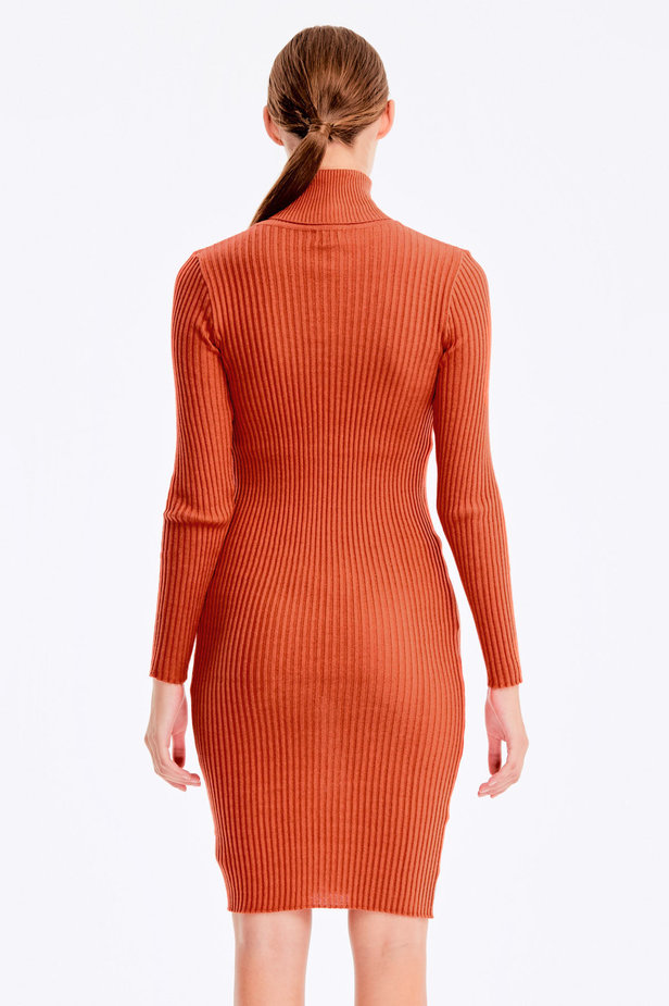 Terra-cotta knit dress photo 4 - MustHave online store