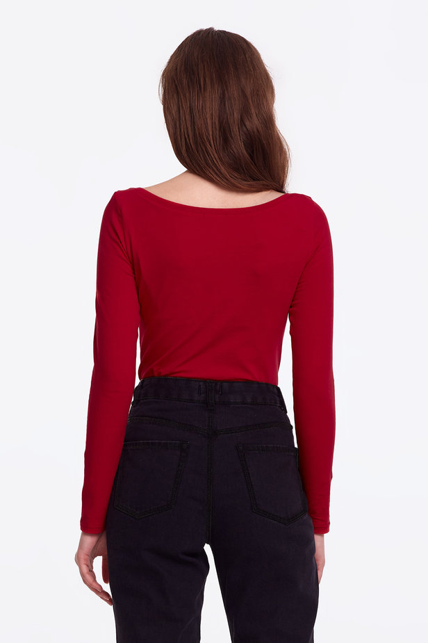 Red jumper photo 7 - MustHave online store