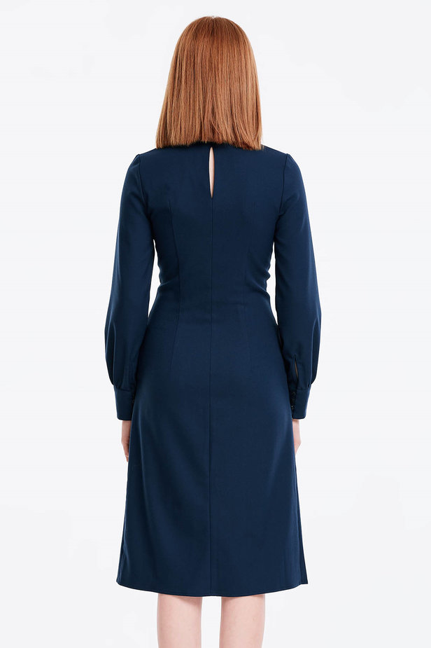 Laced dark blue dress photo 4 - MustHave online store