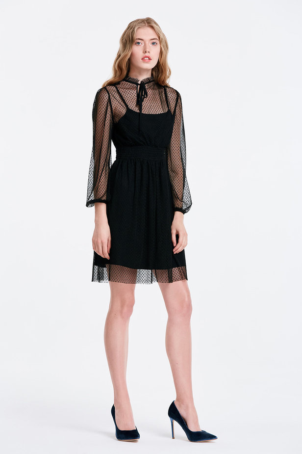 Black lace dress photo 2 - MustHave online store