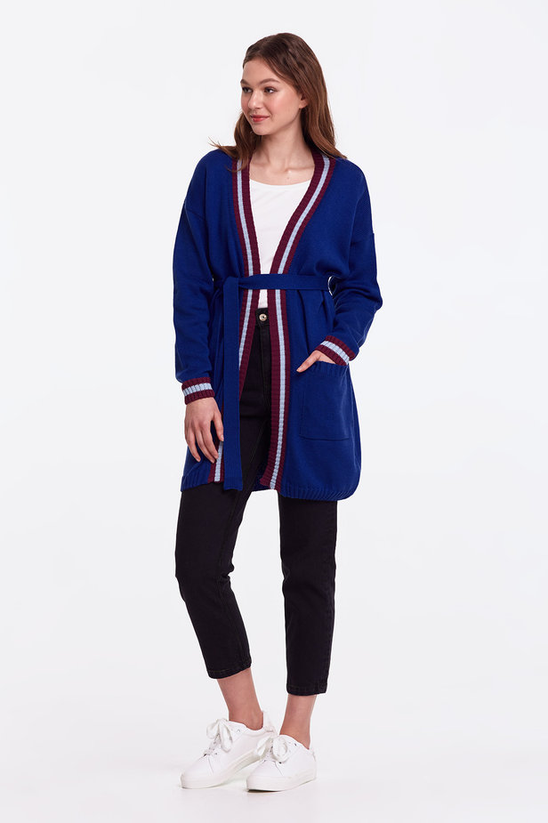 Blue cardigan with stripes photo 5 - MustHave online store