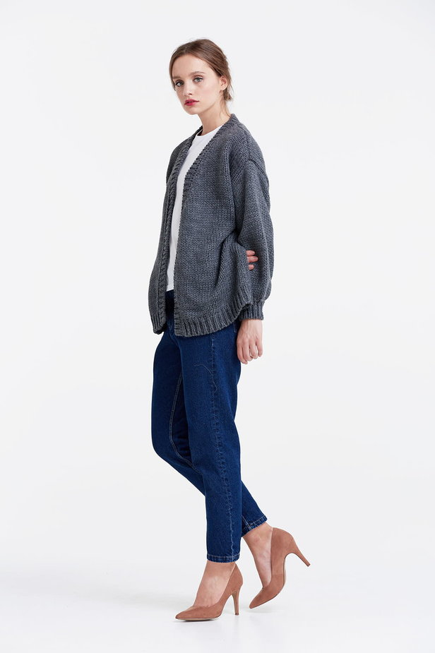 Swing grey cardigan photo 3 - MustHave online store