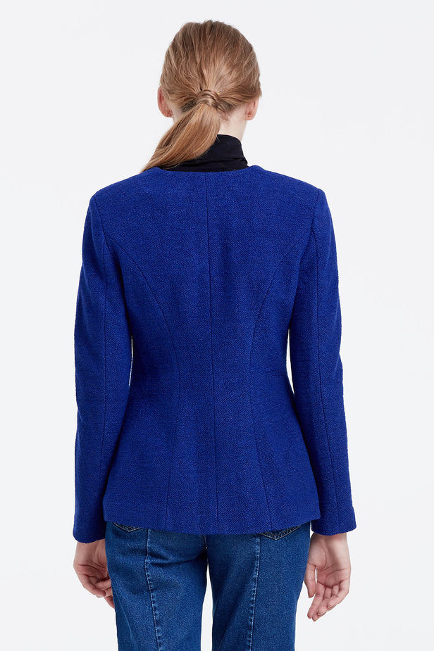 Double-breasted blue jacket photo 3 - MustHave online store