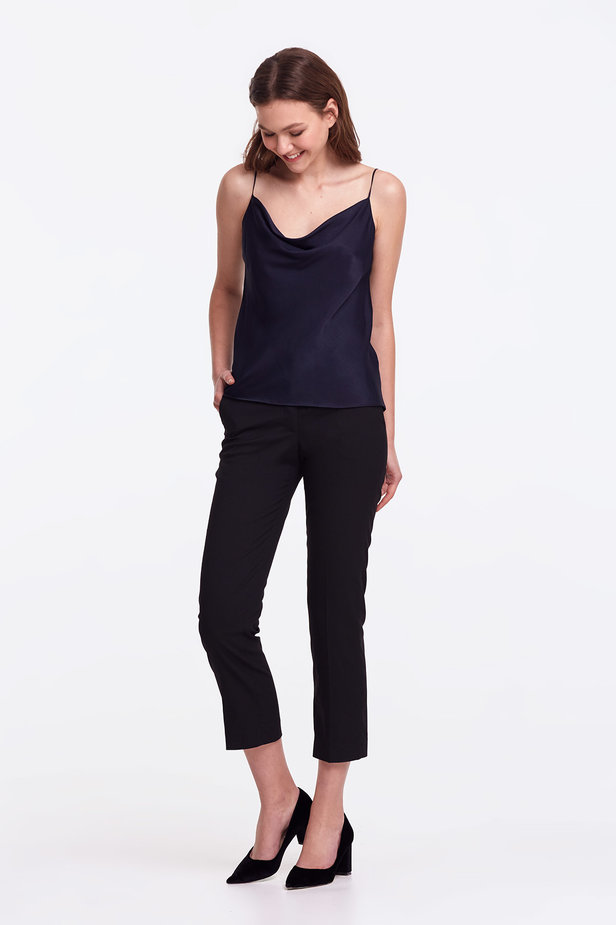Dark blue top with straps photo 3 - MustHave online store