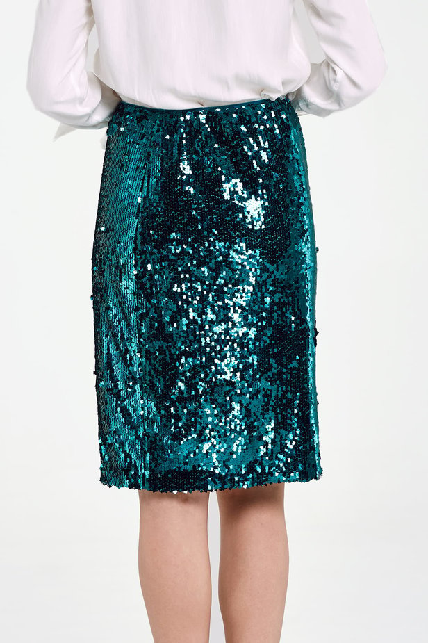 Green sequin skirt photo 4 - MustHave online store