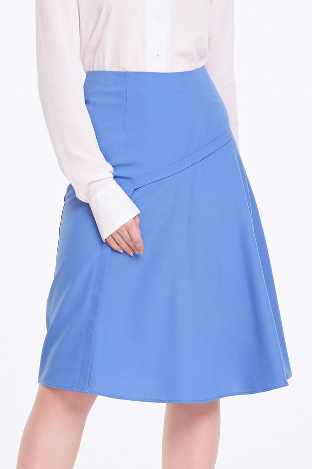 Blue skirt with pleats photo 1 - MustHave online store