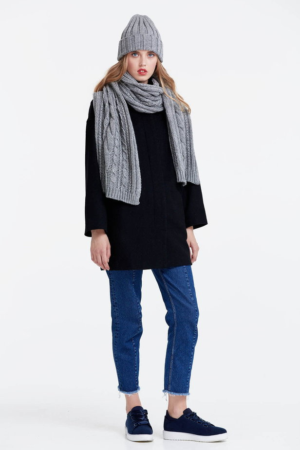 Grey scarf photo 3 - MustHave online store
