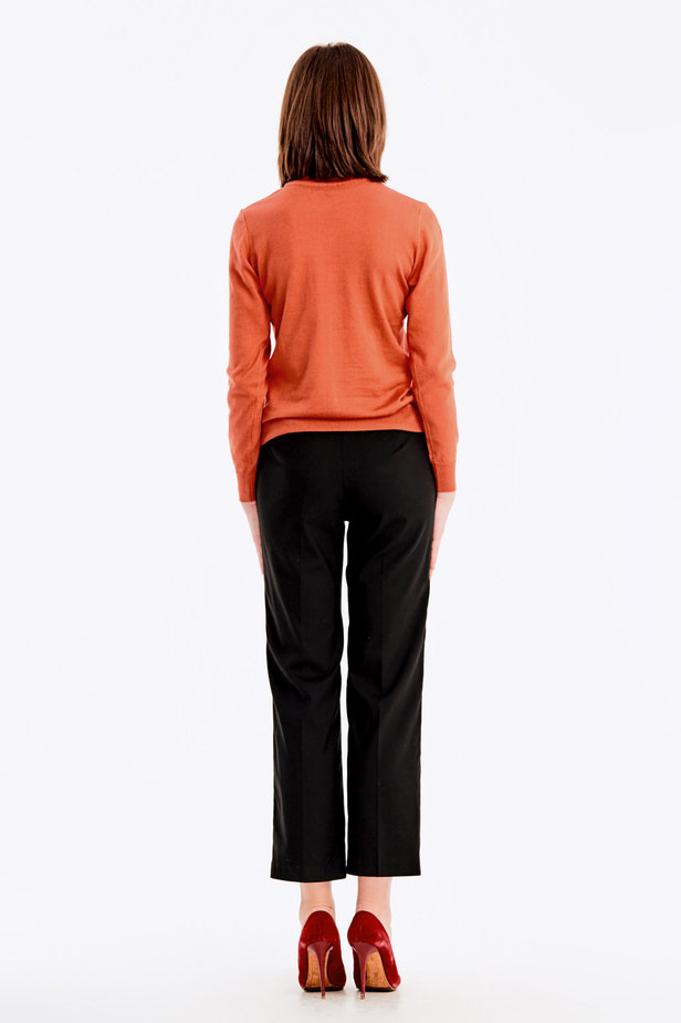Terra-cotta knit polo neck photo 6 - MustHave online store