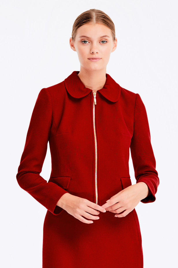 Wine jacket with a zip photo 1 - MustHave online store
