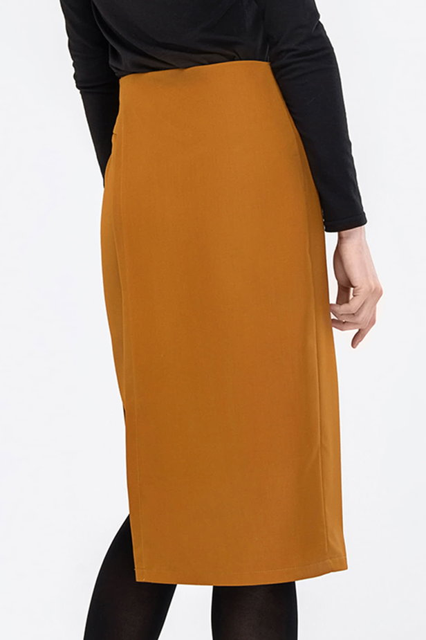 Wrap mustard skirt photo 2 - MustHave online store