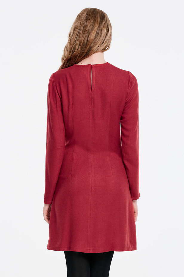 Red dress with ties photo 5 - MustHave online store