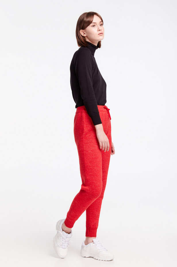 Red knit pants photo 8 - MustHave online store