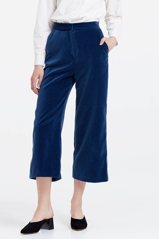 Blue velvet culottes photo 1 - MustHave online store