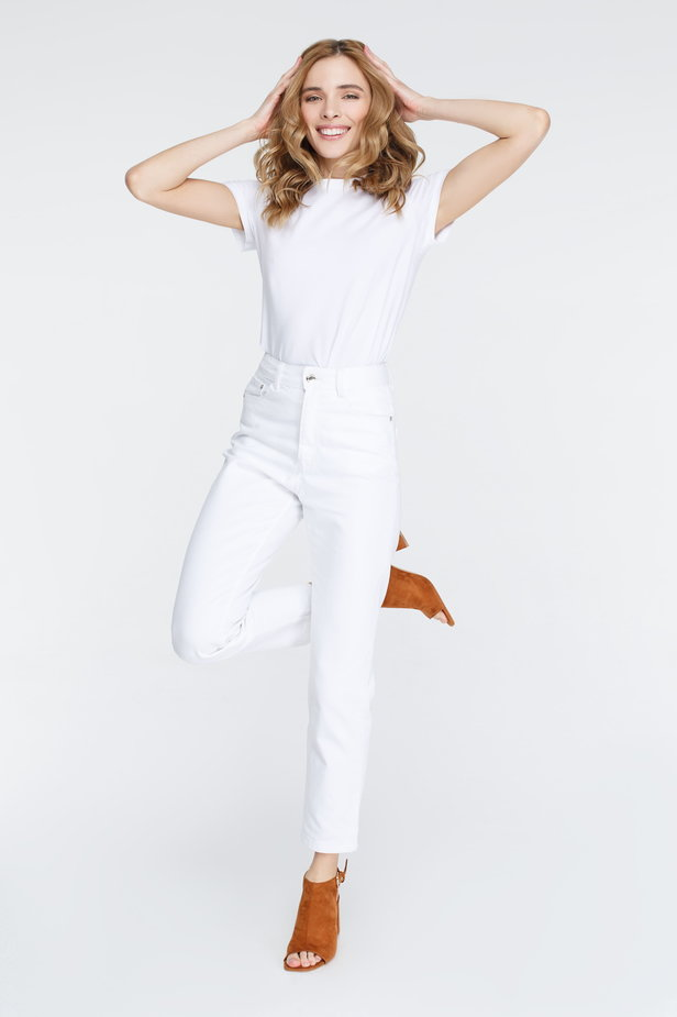White mom fit jeans photo 1 - MustHave online store